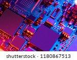 electronic circuit board close... | Shutterstock . vector #1180867513
