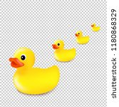 rubber ducks isolated... | Shutterstock .eps vector #1180868329