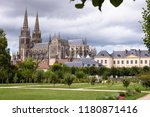 cathedral in sees  normandy ...   Shutterstock . vector #1180871416
