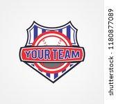 baseball team championship logo ... | Shutterstock .eps vector #1180877089