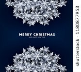 blue merry christmas greetings... | Shutterstock .eps vector #1180877953