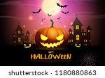 halloween pumpkin fullmoon... | Shutterstock .eps vector #1180880863