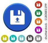 upload file round color beveled ...   Shutterstock .eps vector #1180881199