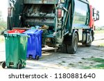 utilization of garbage in the... | Shutterstock . vector #1180881640