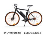 black electric bike side view.... | Shutterstock . vector #1180883086
