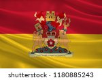 flag of hampshire is a county... | Shutterstock . vector #1180885243