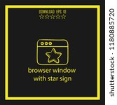 browser window with star sign...