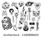 set of dark magic elements ... | Shutterstock .eps vector #1180888603