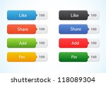 vector web color button with... | Shutterstock .eps vector #118089304