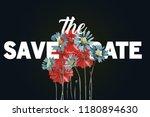 save the date modern wedding...   Shutterstock .eps vector #1180894630