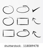 vector set of arrows | Shutterstock .eps vector #118089478