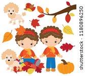 fall vector cartoon illustration | Shutterstock .eps vector #1180896250