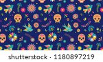 day of the dead  dia de los... | Shutterstock .eps vector #1180897219