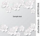 paper art flowers background....   Shutterstock .eps vector #1180901866