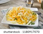 delicious fruit salad with... | Shutterstock . vector #1180917070