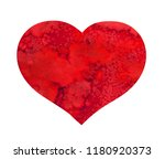 watercolor hand painted red... | Shutterstock . vector #1180920373