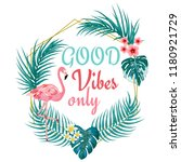 good vibes only vector... | Shutterstock .eps vector #1180921729