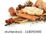 composition of christmas spices ... | Shutterstock . vector #118092400