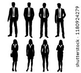 vector silhouettes men and... | Shutterstock .eps vector #1180924279