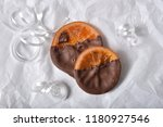 milk chocolate dipped glace... | Shutterstock . vector #1180927546