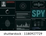 software for the spy. monitor... | Shutterstock .eps vector #1180927729