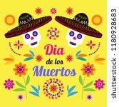 dia de los muertos  day of the... | Shutterstock .eps vector #1180928683