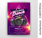 realistic club party flyer | Shutterstock .eps vector #1180929016