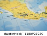 mexico on the map | Shutterstock . vector #1180929280