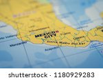 mexico on the map | Shutterstock . vector #1180929283