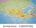 mexico on the map | Shutterstock . vector #1180929286