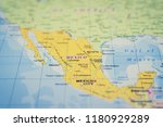 mexico on the map | Shutterstock . vector #1180929289