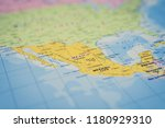 mexico on the map | Shutterstock . vector #1180929310