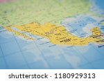 mexico on the map | Shutterstock . vector #1180929313