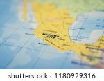 mexico on the map | Shutterstock . vector #1180929316