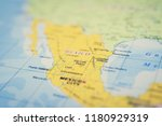 mexico on the map | Shutterstock . vector #1180929319
