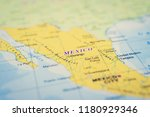 mexico on the map | Shutterstock . vector #1180929346