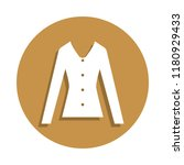 women's blouse icon in badge...