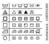 set of the laundry instruction... | Shutterstock .eps vector #1180931383
