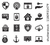 secure icons. black scribble... | Shutterstock .eps vector #1180931479