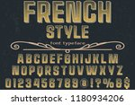 font handcrafted typeface... | Shutterstock .eps vector #1180934206