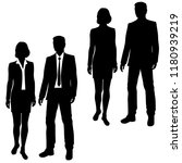 set vector silhouettes man and... | Shutterstock .eps vector #1180939219