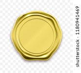 gold stamp wax seal approval... | Shutterstock .eps vector #1180941469
