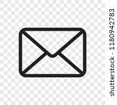 email envelope icon. vector... | Shutterstock .eps vector #1180942783