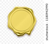 gold stamp wax seal approval... | Shutterstock .eps vector #1180942990