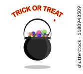 happy halloween. trick or treat.... | Shutterstock .eps vector #1180943509