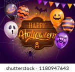 invitation card for happy... | Shutterstock .eps vector #1180947643