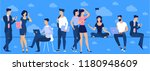 flat design  web page template... | Shutterstock .eps vector #1180948609