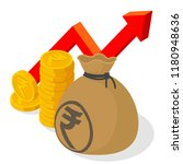 indian rupee investment and... | Shutterstock .eps vector #1180948636