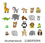 wild animal set | Shutterstock .eps vector #118095094
