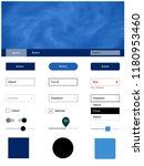 dark blue vector web ui kit...